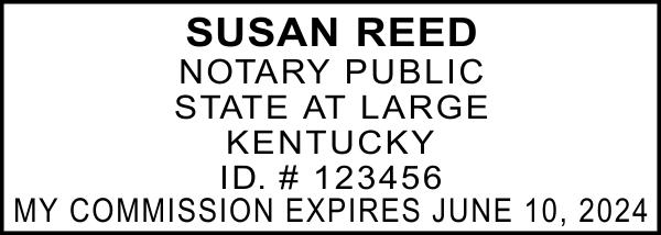 Kentucky Notary Rectangle