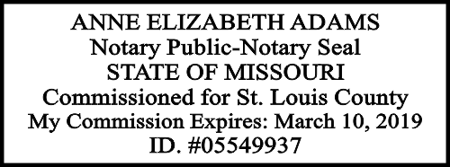 Missouri Official Notary Seal Embosser