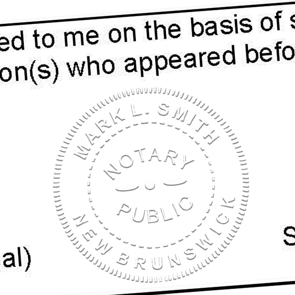 New Brunswick Notary Imprint