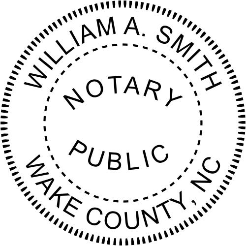 North Carolina Notary rubber stamp