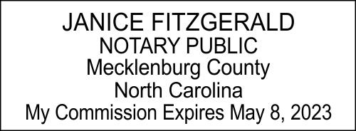 North Carolina Notary Seal Stamp