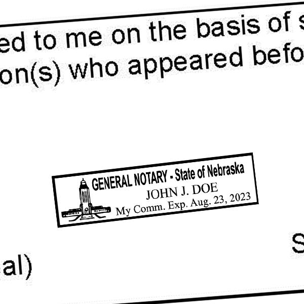 Nebraska Notary Rectangular Imprint