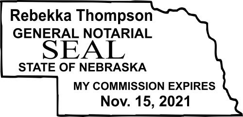 Nebraska Notary Seal Stamp