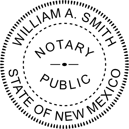 New Mexico Round Notary Seal example