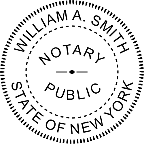 New York Official Notary Seal Embosser