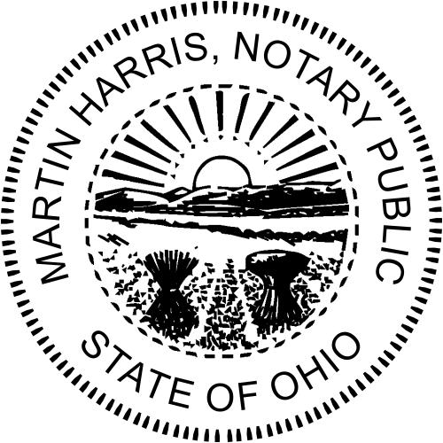 Ohio Sunrise Notary Embosser