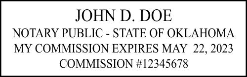 Oklahoma Notary Seal Stamp