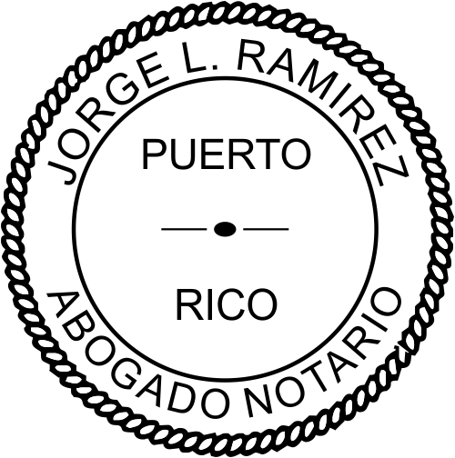 Puerto Rico Notary Seal Stamp