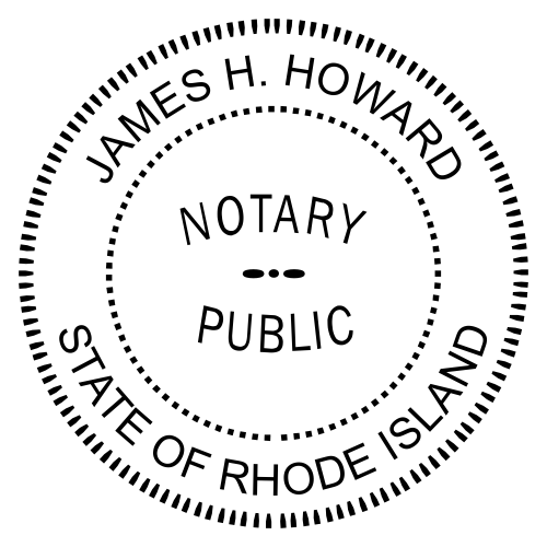 Rhode Island Notary Seal Stamp