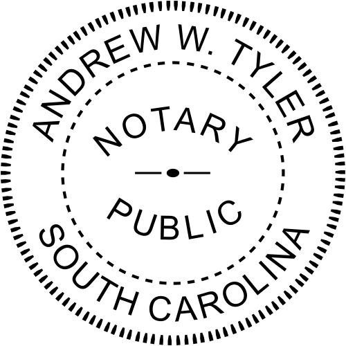 South Carolina Notary stamp