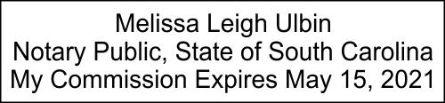 South Carolina Notary Seal Stamp