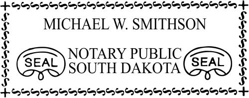 South Dakota Notary Seal Stamp