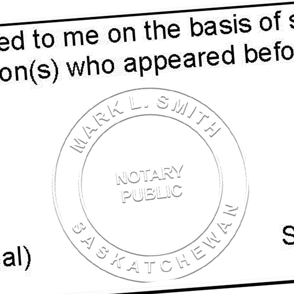 Saskatchewan Notary Imprint