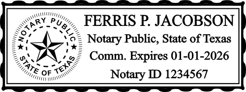 Texas Official Embosser Notary Seal