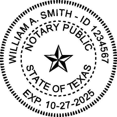 Texas Notary Round Imprint