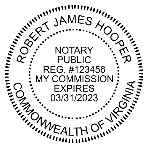 Virginia Notary Public Round