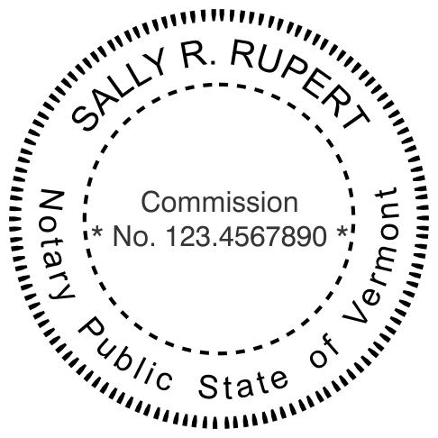 Vermont Notary Round Imprint