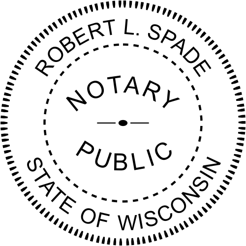 Wisconsin Notary Seal Stamp