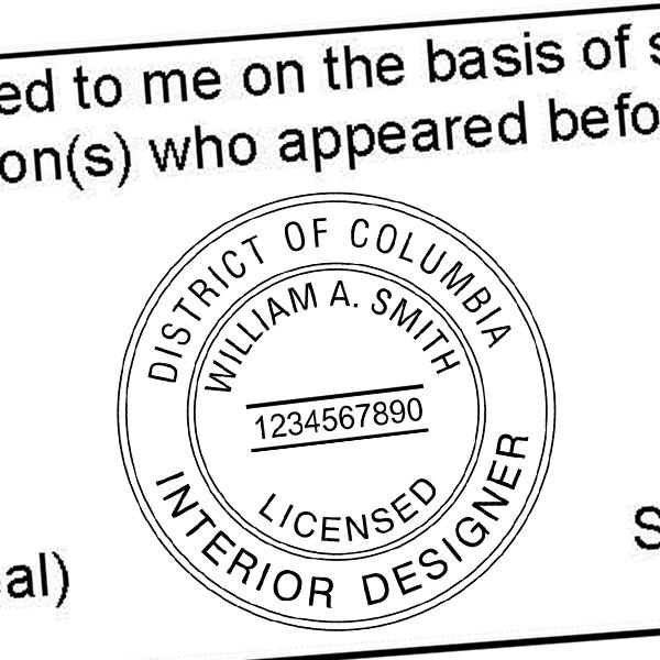 District of Columbia Interior Designer Seal Imprint