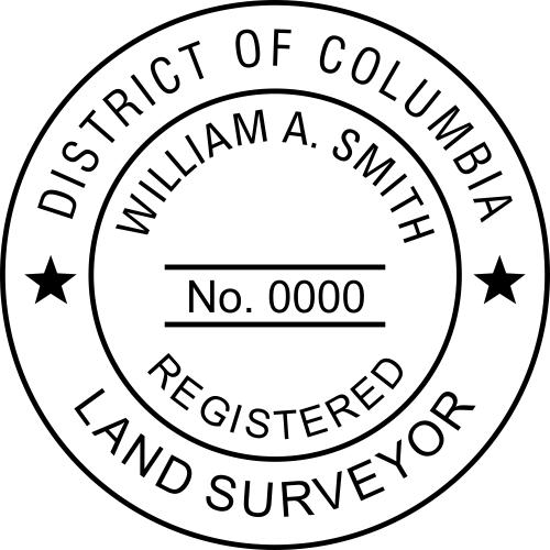 District of Columbia Land Surveyor Stamp Seal