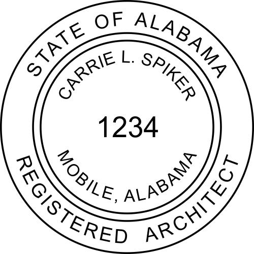 Alabama Architect Stamp Seal
