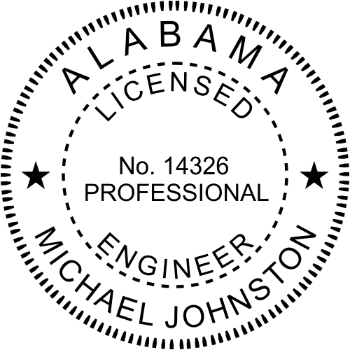 Alabama Engineer Stamp Seal