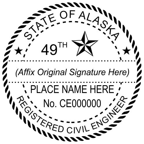 Alaska Civil Engineer Stamp Seal