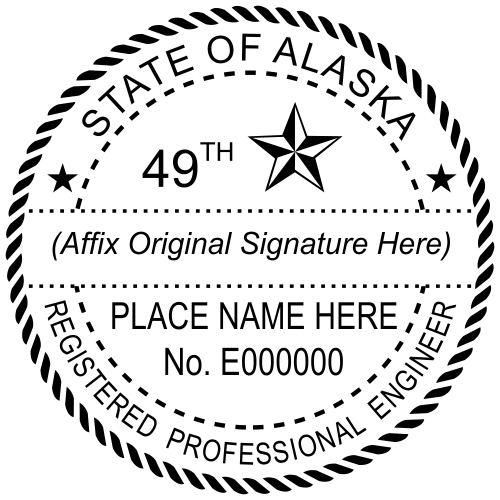Alaska Engineer Stamp Seal