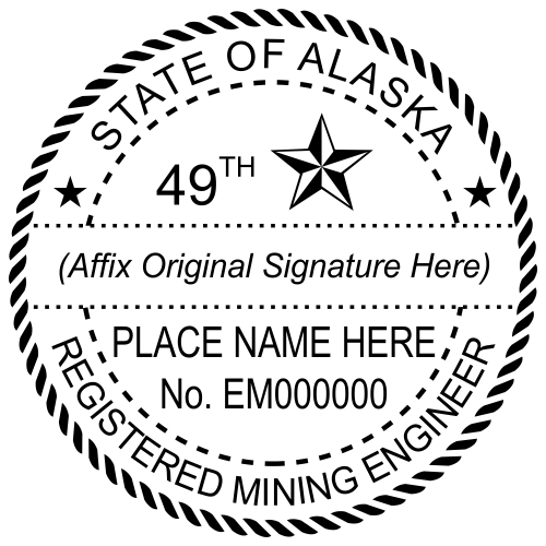Alaska Mining Engineer Stamp Seal