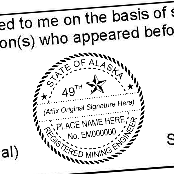 State of Alaska Mining Engineer Seal Imprint