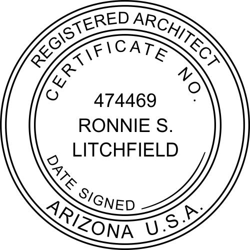 Arizona Architect Stamp
