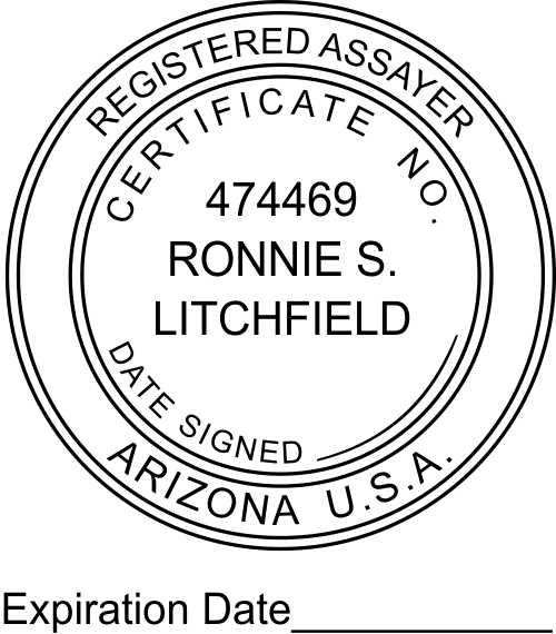 Arizona Assayer Expiration Date Stamp
