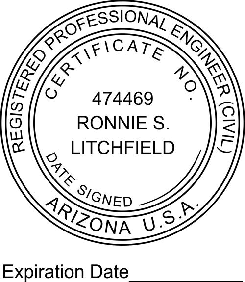 Arizona Engineer Expiration Date Stamp