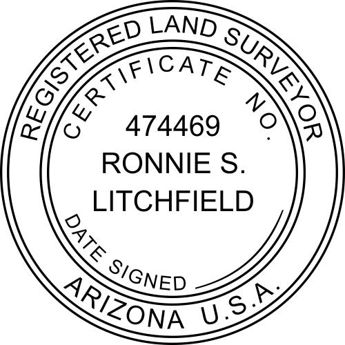 Arizona Land SurveyorStamp