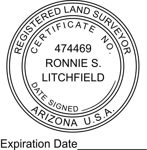 Arizona Land Surveyor Expiration Date Stamp