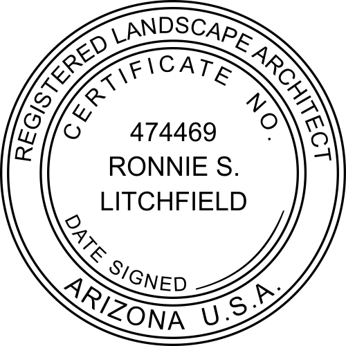Arizona Landscape Architect Stamp