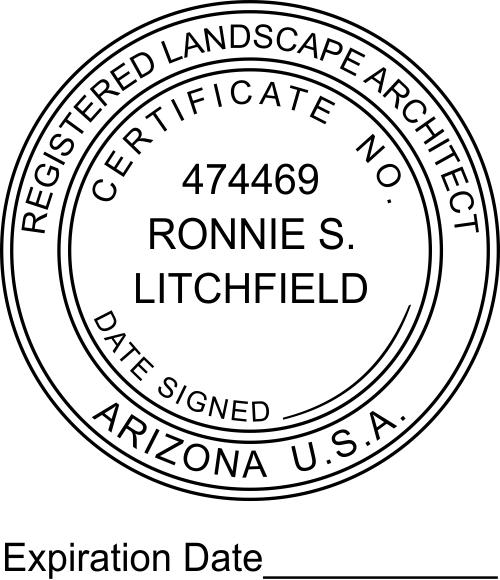 Arizona Landscape Architect Expiration Date Stamp