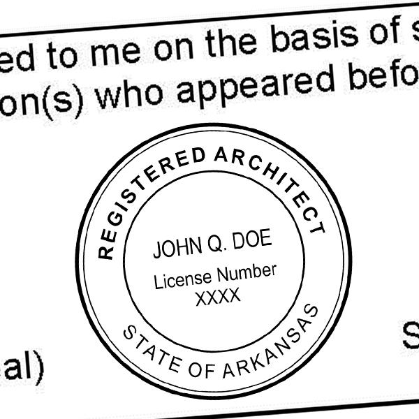 State of Arkansas Architect Seal Imprint