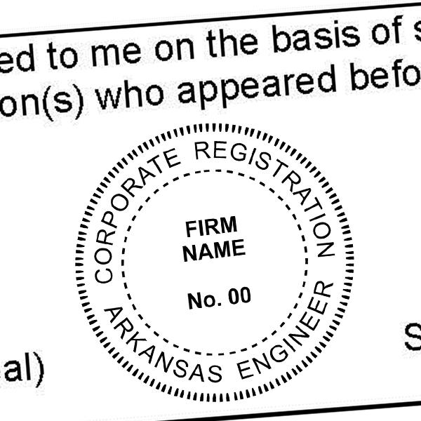 State of Arkansas Corporate Engineer Seal Imprint