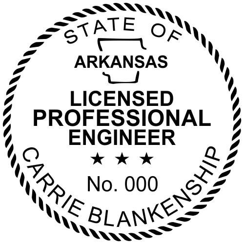 Arkansas Engineer Stamp Seal