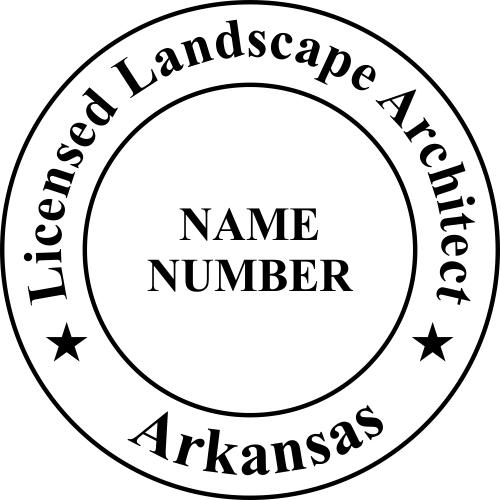 Arkansas Landscape Architect Stamp Seal