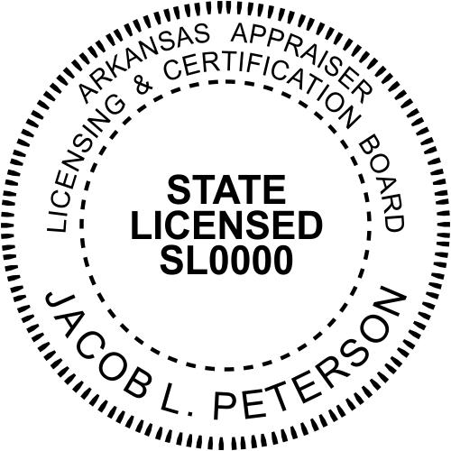 Arkansas Appraiser State Licensed Stamp Seal