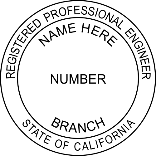 California Engineer (Discipline) Stamp Seal