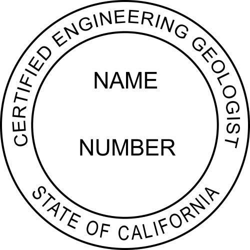 California Engineering Geologist Stamp Seal