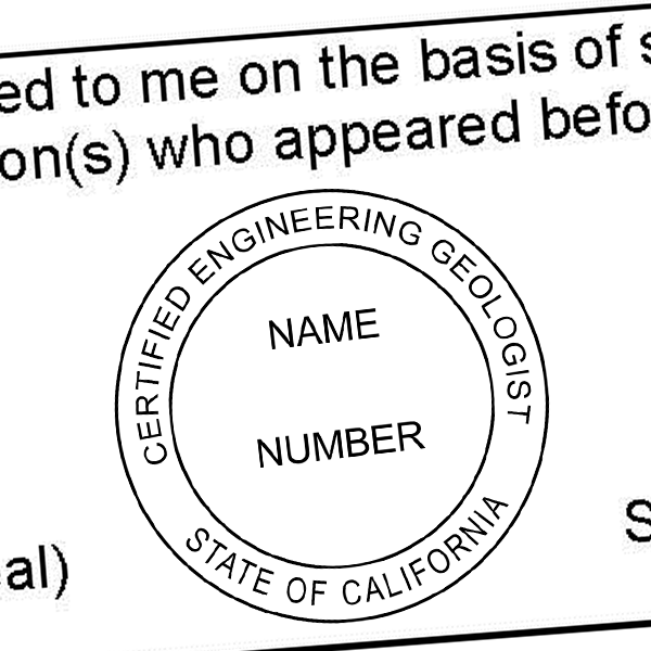 State of California Engineering Geologist Seal Imprint