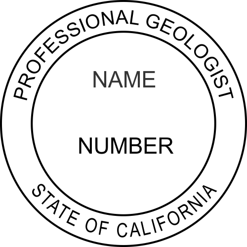 California Professional Geologist Stamp Seal