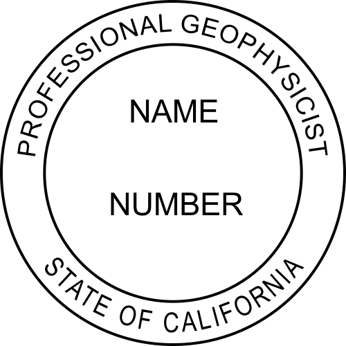 California Professional Geophysicist Stamp Seal