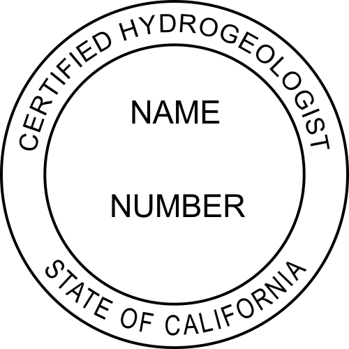 California Certified Hydrogeologist Stamp Seal