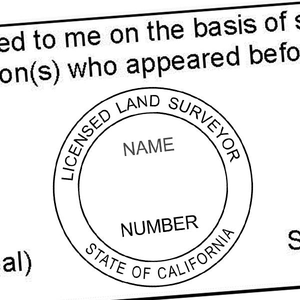 State of California Land Surveyor Seal Imprint
