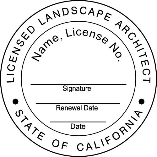 California Landscape Architect Stamp Seal